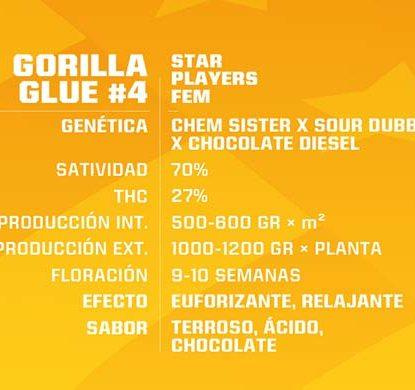 SensorySeeds Descrizione Semi Gorilla Glue Femminizzati