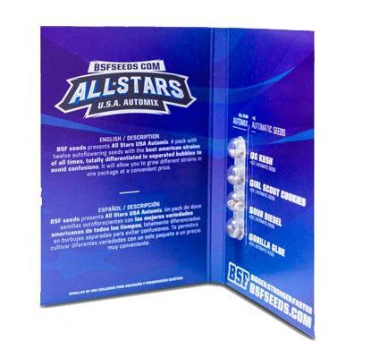 Confezione del kit di semi di cannabis All Stars USA Automix