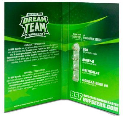 Confezione del kit di semi di cannabis Dream Team Feminized Mix
