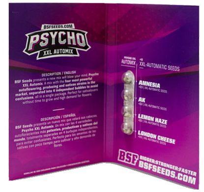 Confezione del kit di semi di cannabis Psycho XXL Automix