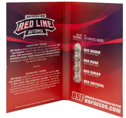 Confezione del kit di semi di cannabis Red Line Automix