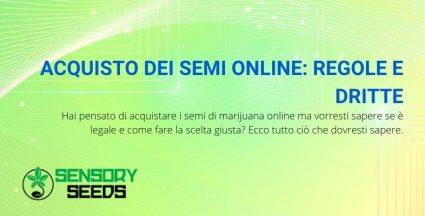 acquisto semi online regole e dritte