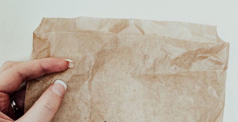 busta di carta per essiccare la marijuana